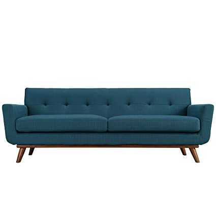 Retro modern sofa Sectional Image Unavailable Amazoncom Amazoncom Retro Modern Lounge Sofa Blue Kitchen Dining