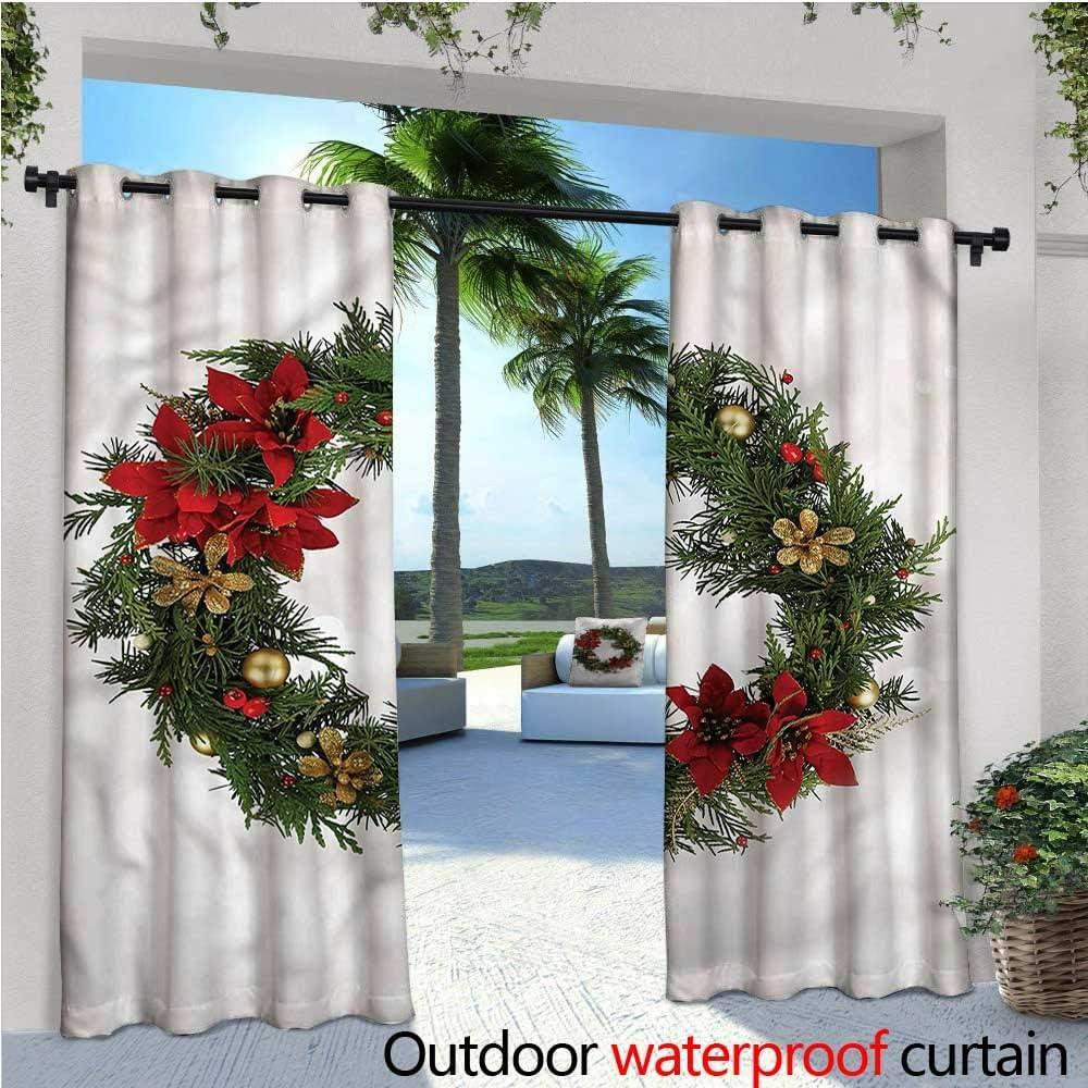 Cortinas de Navidad para Patio, árbol Festivo y Texto, Cortinas para Exteriores, Patio, Exterior: Amazon.es: Jardín