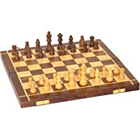 A K Handicrafts Wooden Foldable Handmade Standard Classic Chess Board Game (12-inches)