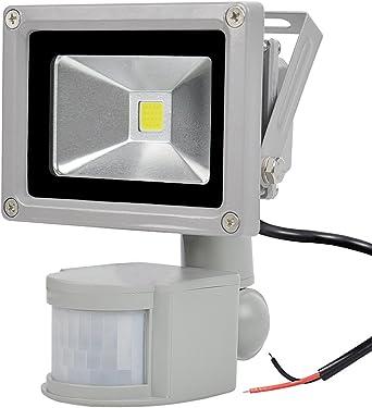 GLW 10W Proyector Sensor de Movimiento LED 12V AC o DC,Luz ...