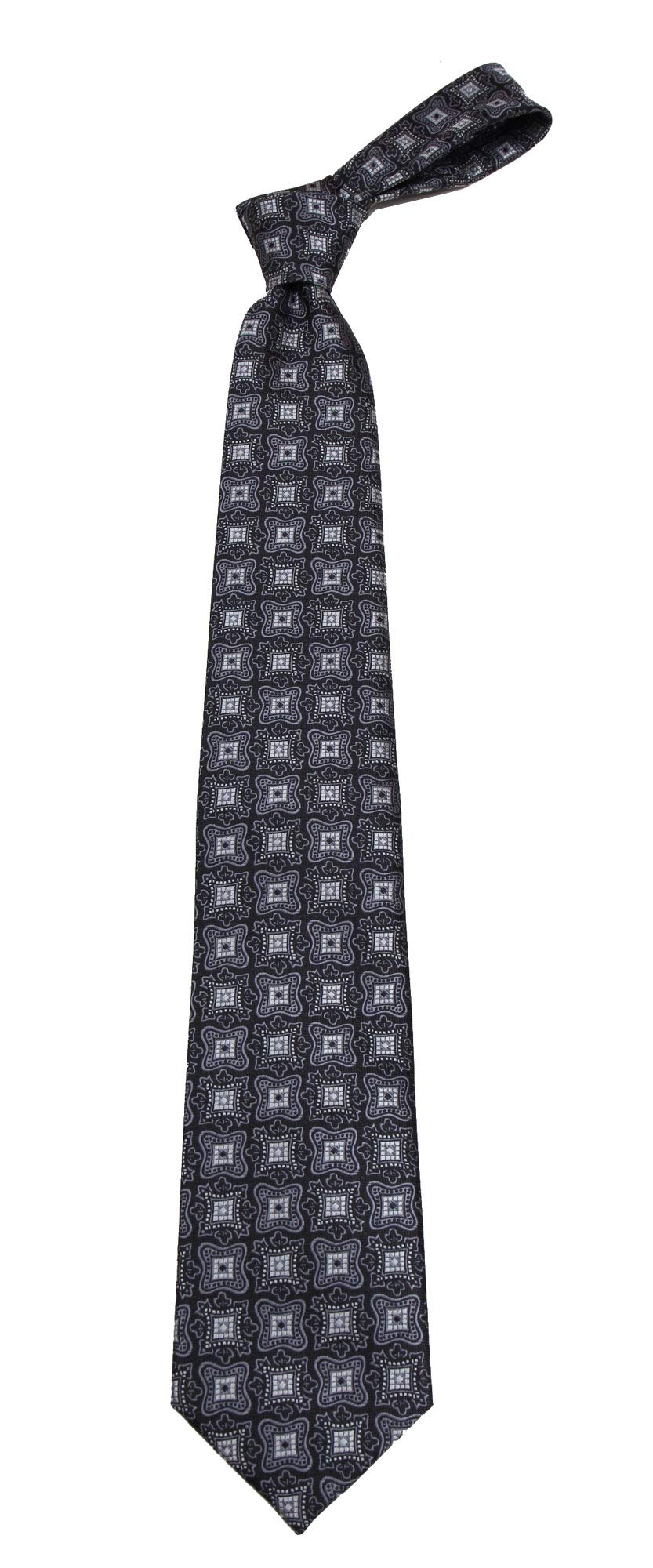 Boys Youth Black Pattern Designer Necktie Ties