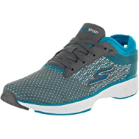 Skechers Women's Gowalk Sport Walking Shoe,Charcoal/Turquoise,US 7 M