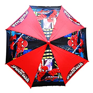 Marvel – Spiderman – Paraguas Rojo/Negro Figura Mango Kids New regalo Toys spu469