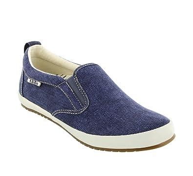 Taos Women's Dandy Blue Washed Canvas Sneaker 6 B (M) US