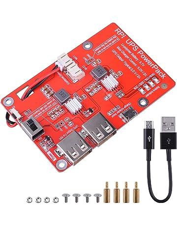 Kuman batería de Litio Pack expansión Junta Fuente de alimentación con Interruptor + Micro USB Cable