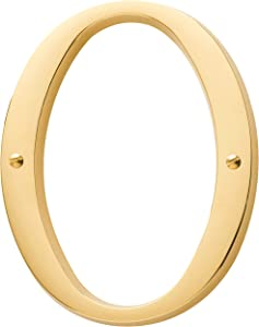 Baldwin Estate 90670.003.CD Solid Brass Traditional House Number Zero in Polished Brass, 4.75""