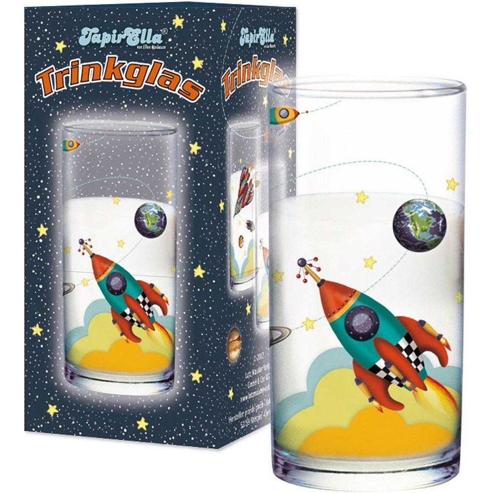 Lutz Mauder 19607 TapirElla Trinkglas Rakete Weltraum