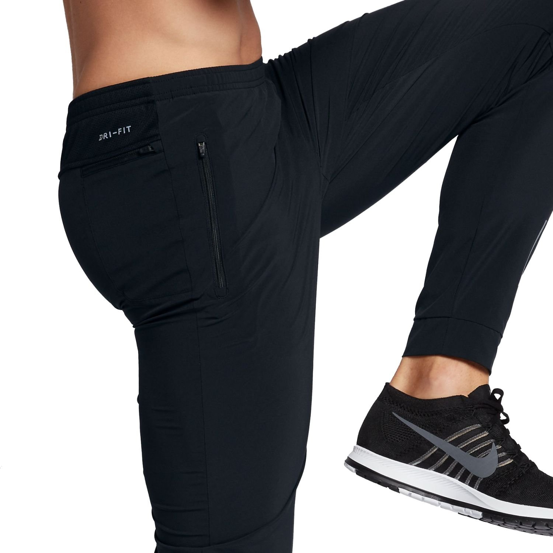 "Nike Men/'s Essential 29/"" Flex Woven Zipper Running Pants 885280-010 Black L NEW"