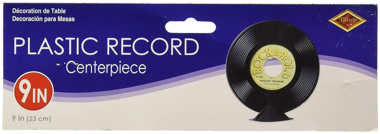 Plastic Record Centerpiece Party Accessory 1 count 1//Pkg