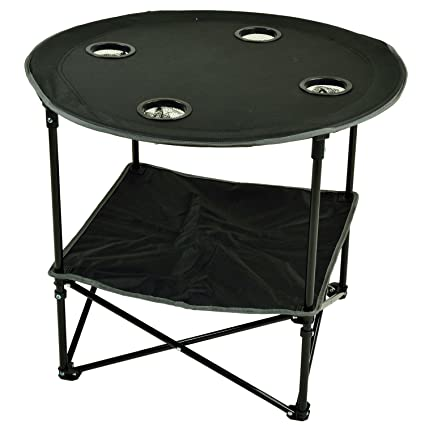 Admirable Picnic At Ascot 548 Blk Canvas Travel Folding Table Black Bralicious Painted Fabric Chair Ideas Braliciousco