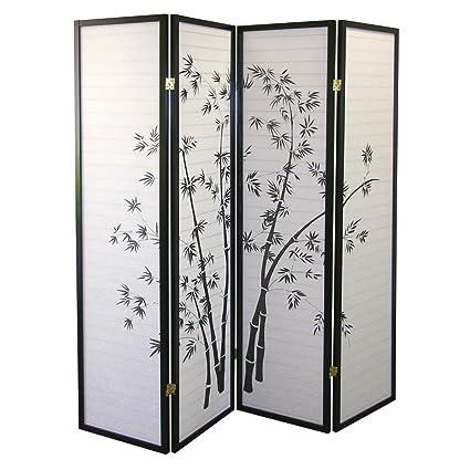 Marvelous Buy Ore International Black 4 Panel Bamboo Screen Room Interior Design Ideas Tzicisoteloinfo