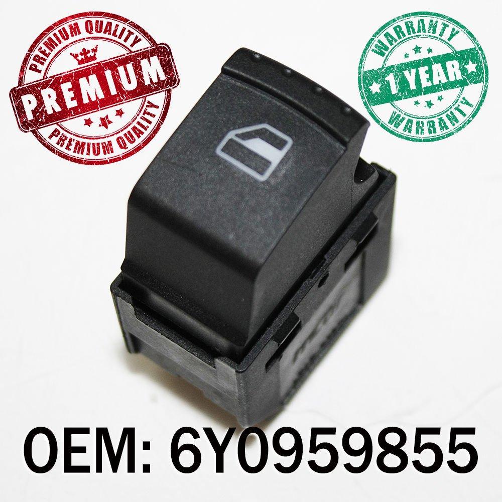 Window Switch Button Passenger Side Control OEM 6Y0959855 Carjoy