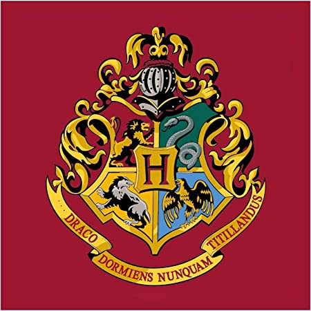 Harry Potter Hogwarts Emblem Square Rug Bedroom Floor Mat