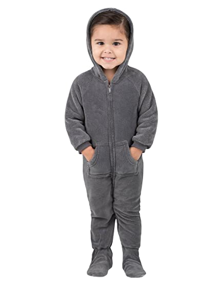 4b97561bc737 Amazon.com  Footed Pajamas - Howling Moon Infant Hoodie Chenille ...