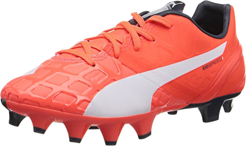 PUMA Evospeed 1.4 Firm Ground JR Soccer Shoe (Infant/Toddler/Little Kid/Big  Kid)