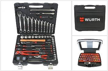Würth Caja herramientas Todos en Uno Cofre herramientas Caja de carracas Caja Regalo 91 Uds. Todo NUEVO: Amazon.es: Bricolaje y herramientas