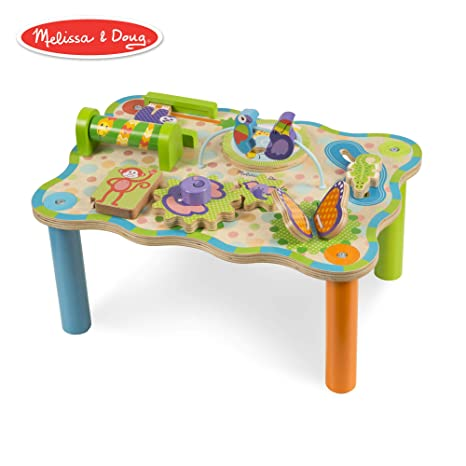 Amazoncom Melissa Doug First Play Jungle Wooden Activity Table