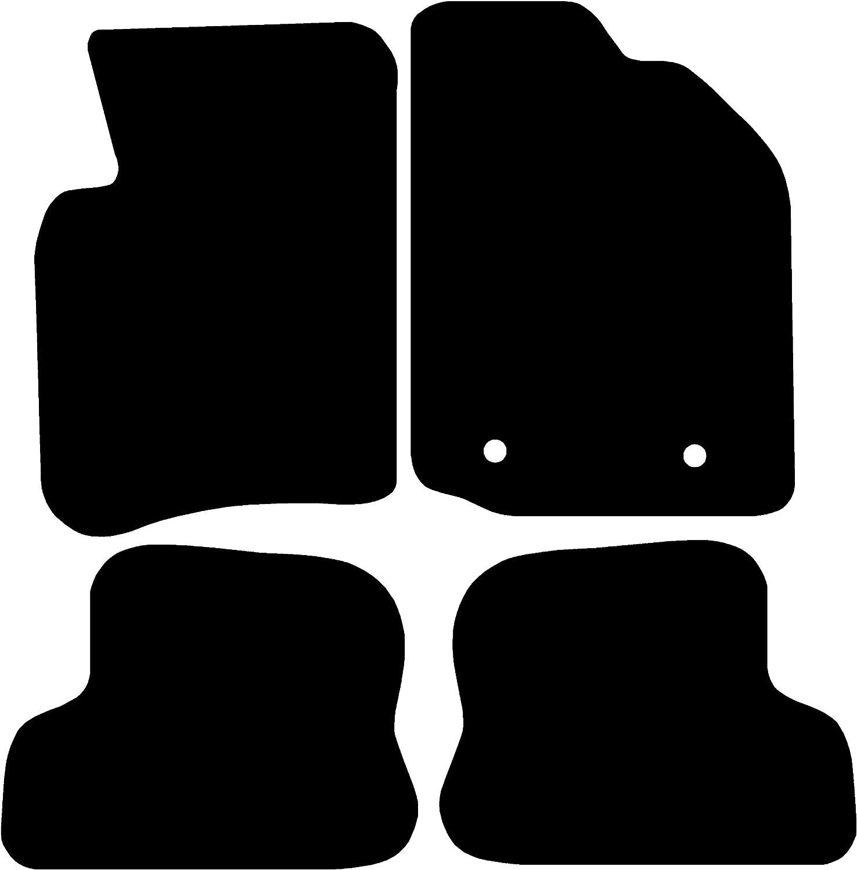 Set of 4 Black with Red Trim Connected Essentials Focus C-Max MK1 2003-2010 Car Mats Premium