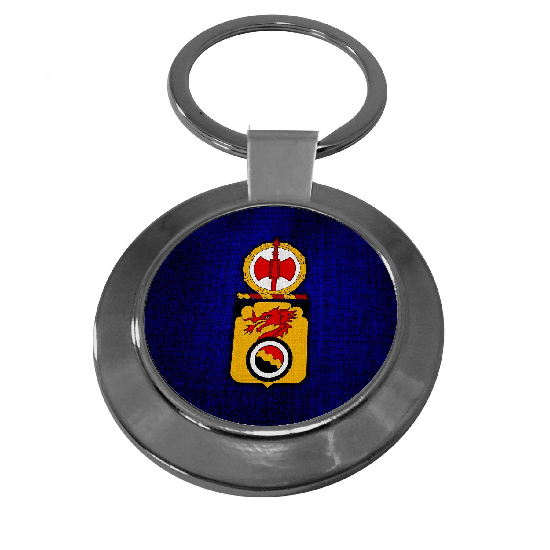 Premium Key Ring with U.S. Army 7th Transportation Battalion, coat of arms