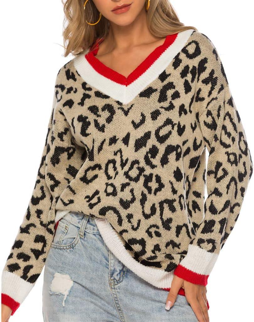 Jessboy - Blusa para mujer elegante, informal, cuello en V, estampado de leopardo, camisa, blusa, primavera, camiseta de manga larga, casual, sudadera, estampado de leopardo, túnica: Amazon.es: Instrumentos musicales