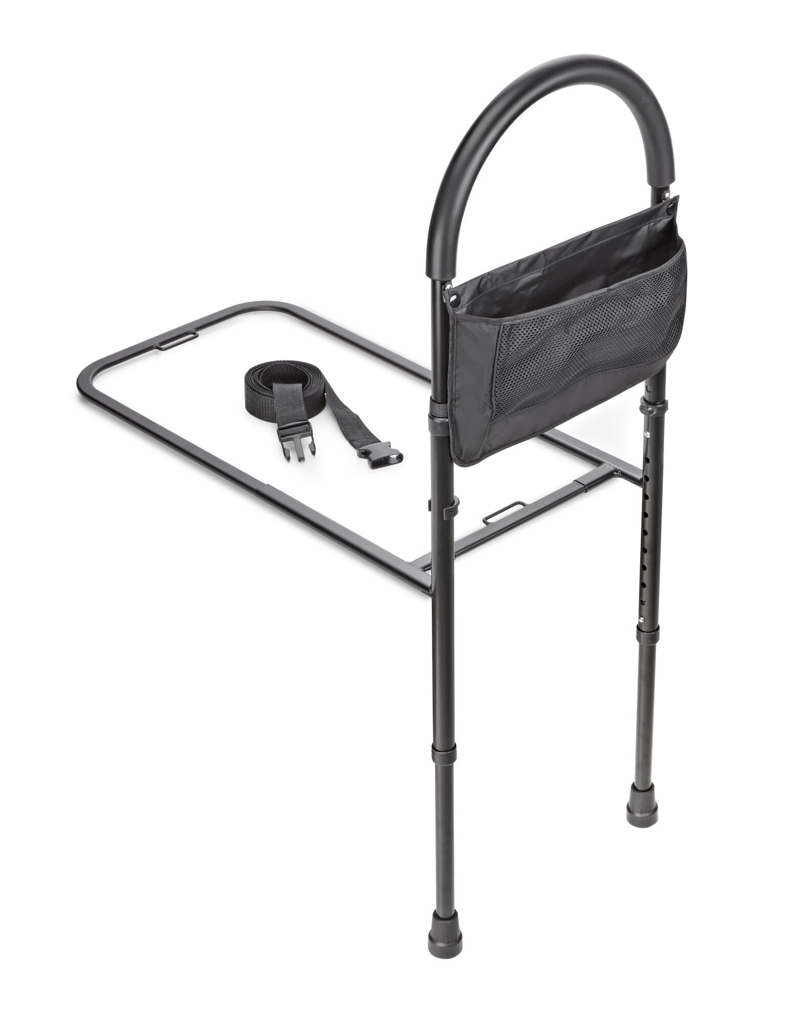 AdirMed Height Adjustable Bed Rail - Bed Assist Handle- with Storage Pouch