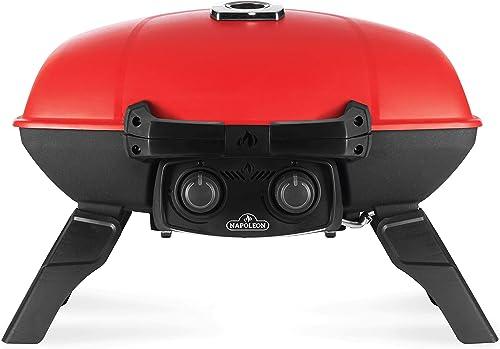 Napoleon TravelQ TQ285-RD-1-A Portable Propane Gas Grill, Red