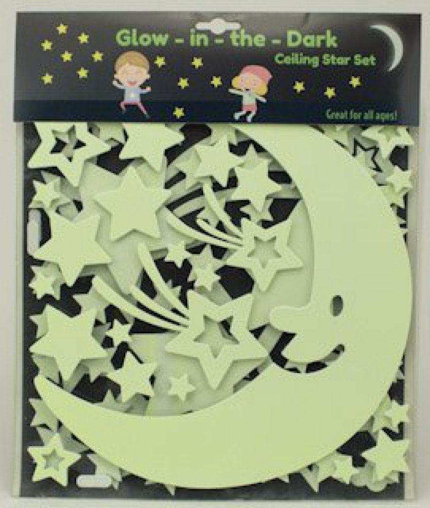 Amazon.com: Glow In The Dark Stars Set - Ceiling and Wall Set for ...