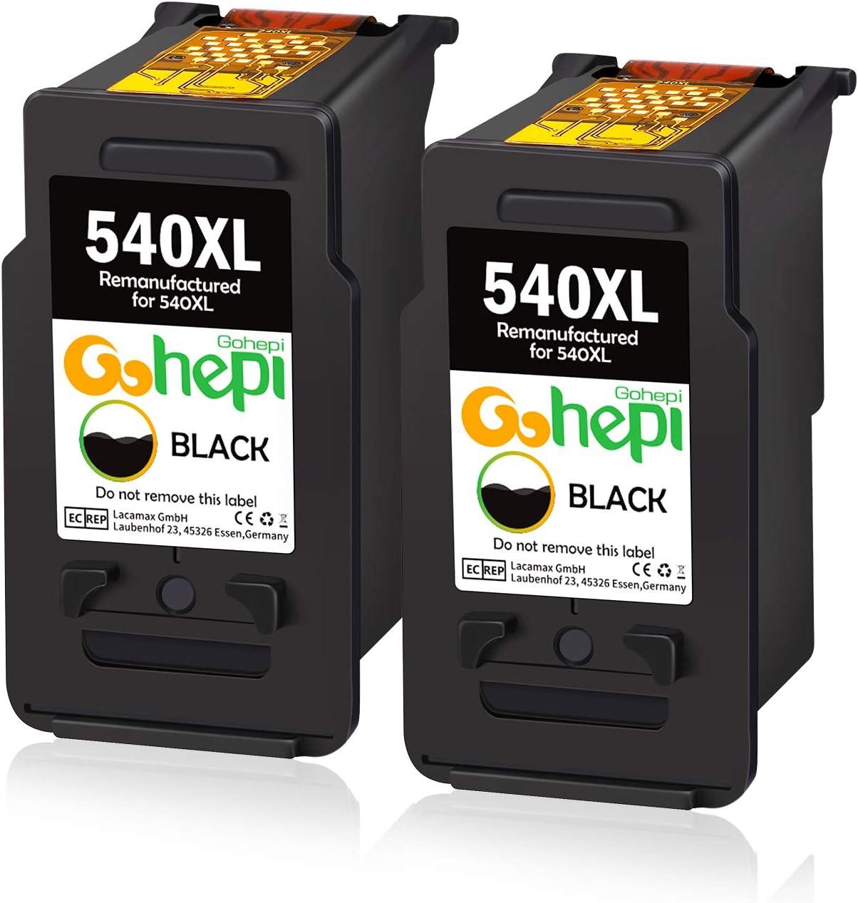 Gohepi PG-540XL Remanufacturados Canon PG-540 Cartuchos de tinta ...