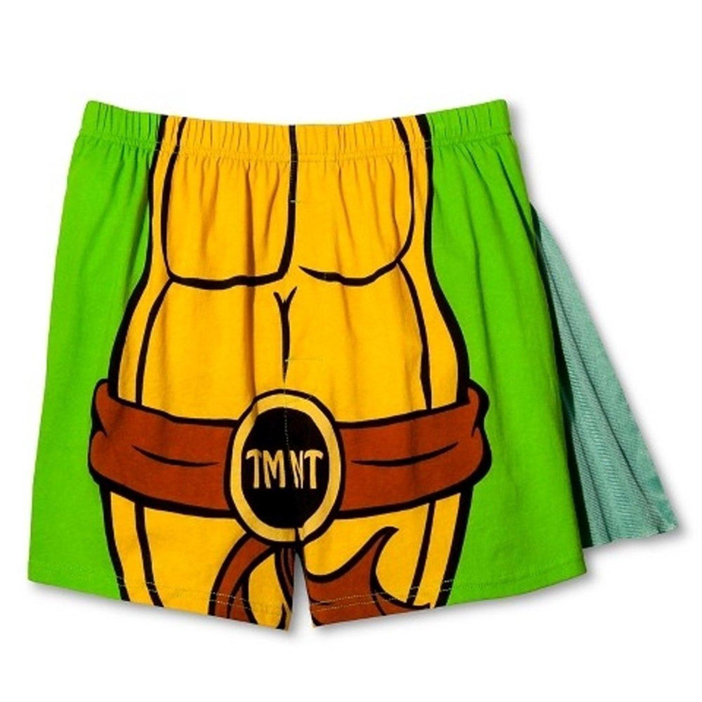 Nickelodeon Men's Teenage Mutant Ninja Turtles Caped Boxers