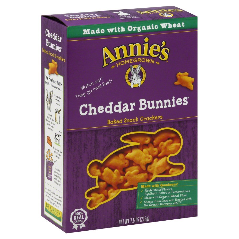 Annie's Homegrown White Cheddar Bunnies 7.5-Ounce (Pack of 60) by ANNIE'S HOMEGROWN (Image #1)