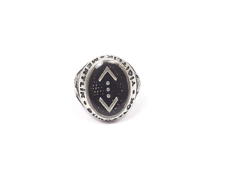 Gök-Türk Halskette /'Cukur/' Türkisch schwarz silberfarben mit Schnur