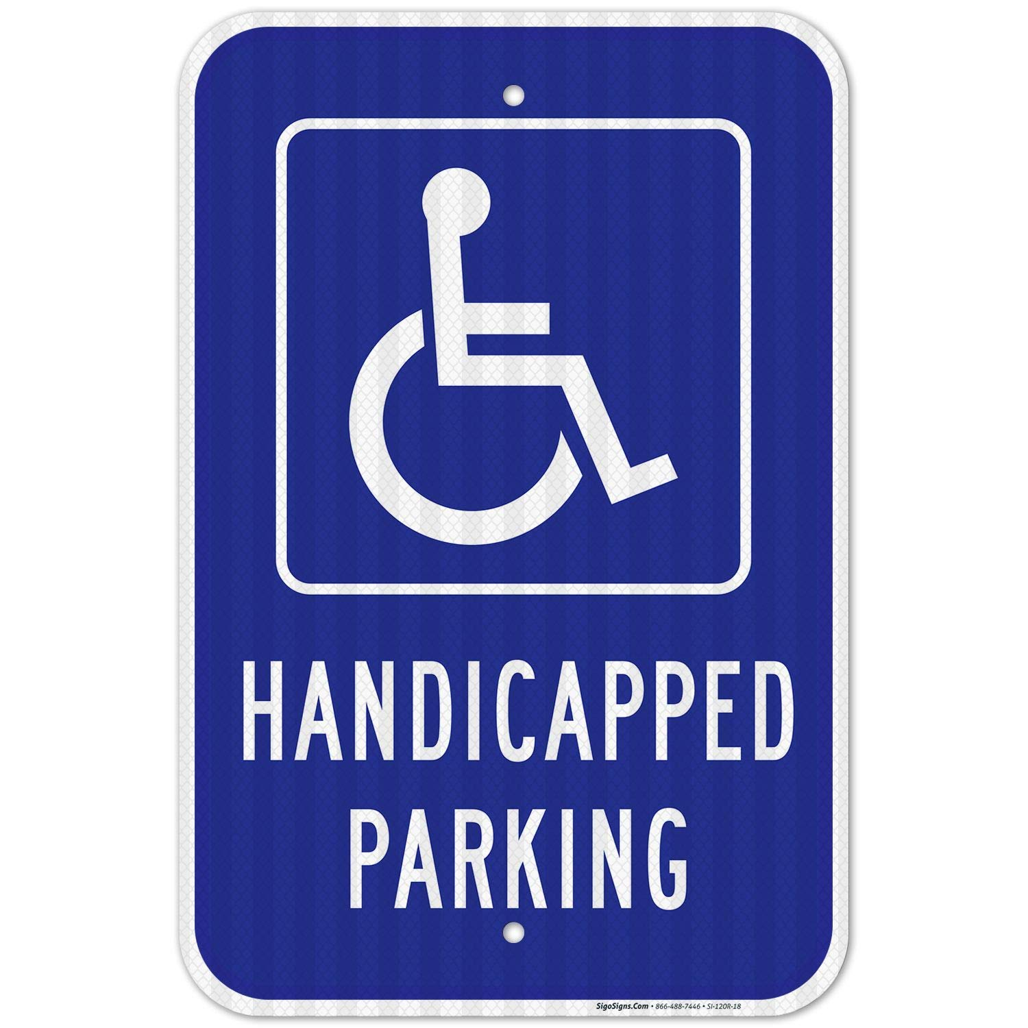 HANDICAP LOGO  METAL ALUMINUM CAR LICENSE PLATE TAG HANDICAP SIGN