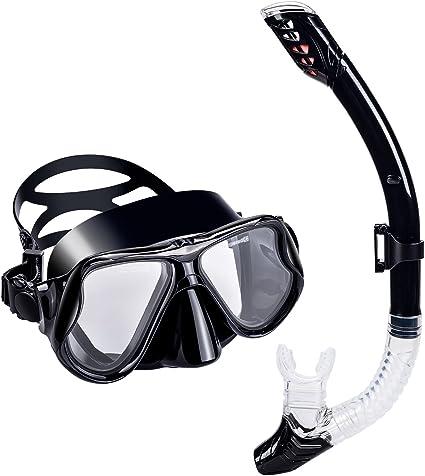 UPhitnis Set de Snorkel Adult - Anti-Niebla Pack de Snorkel, Kit ...