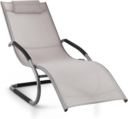 blumfeldt Sunwave Hamaca de jardín (Tumbona ergonómica, Estructura Estable Aluminio, Almohada extraíble, Tejido sintético Resistente, Relax terraza balcón, fácil Limpieza, Mecedora Beige): Amazon.es: Hogar