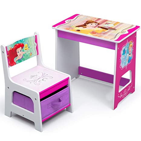 Strange Disney Princess Kids Wood Desk And Chair Set By Delta Children Caraccident5 Cool Chair Designs And Ideas Caraccident5Info