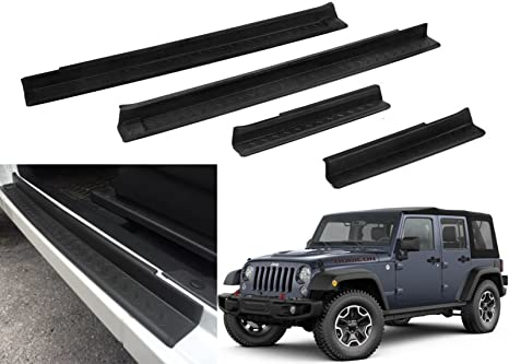 Xbeek Sill Guards Entry Guards For 2007 2017 Jeep Wrangler Jk
