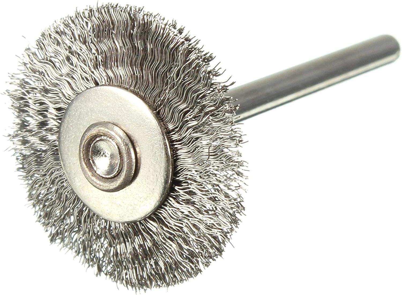 FOTN Nuevo Cepillo de Rueda de Alambre de Acero de 22 mm Compatible para Herramientas rotativas Dremael de Amoladora