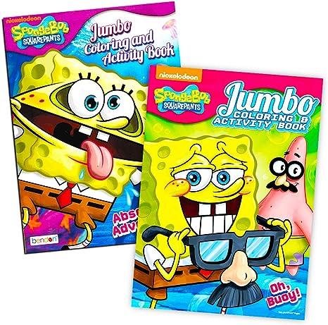 - Amazon.com: Spongebob Squarepants Coloring Book Set (2 Coloring Books):  Toys & Games