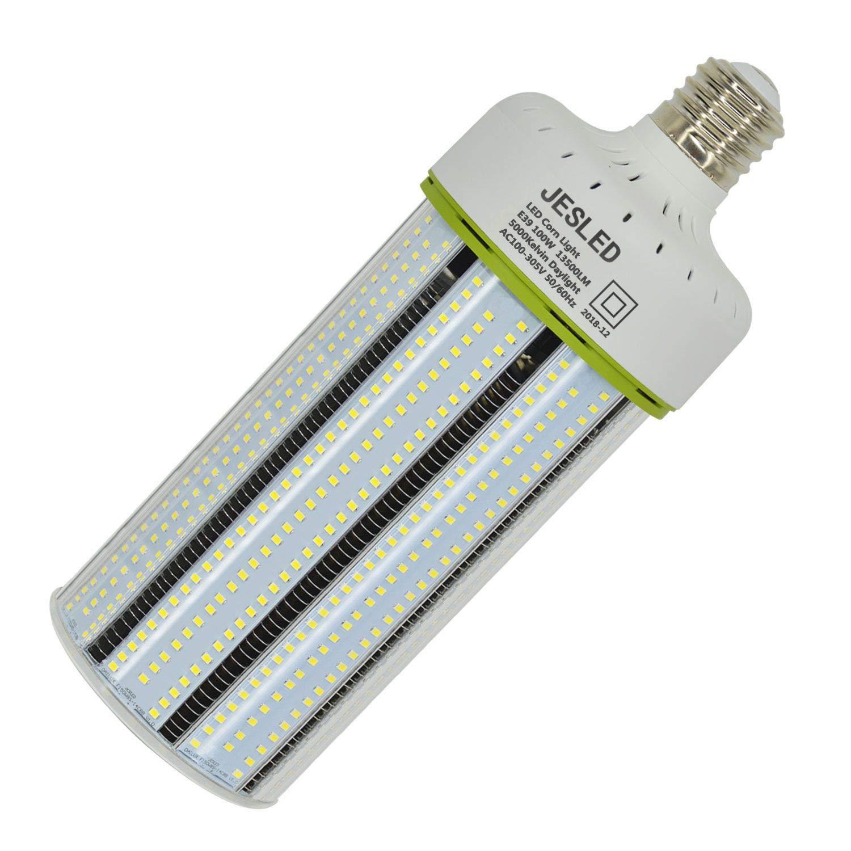 JESLED 100W LED Corn Light Bulb, E39 Mogul Base Corn LED Bulbs, 5000K Daylight 13500LM, 400-600 Watt Equivalent, CFL HPS Metal Halide Lamp Replacement for Garage Warehouse Outdoor Street Area Lighting