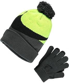 e27dada8db6 Nike Knit Beanie   Gloves Set (Big Boys One Size) - anthracite volt