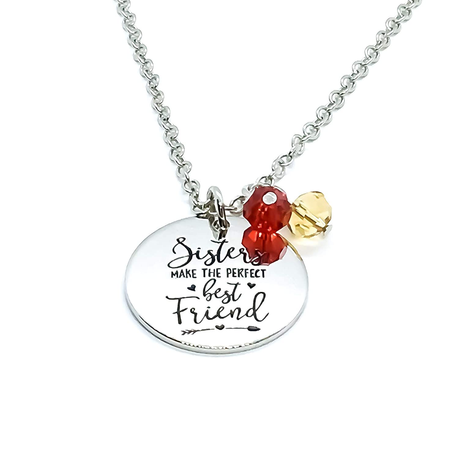 Sisters Make The Perfect Best Friend Stainless Steel Silver Necklace Handmade