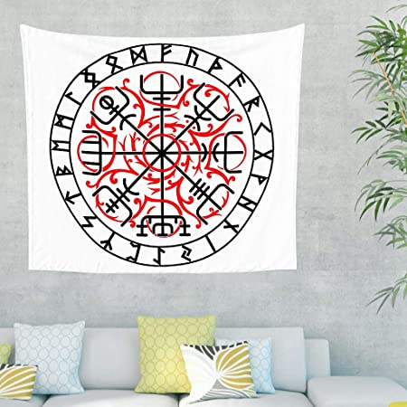 Zauber Keltisch Navigation brújula escandinavo runas tatuaje pared ...