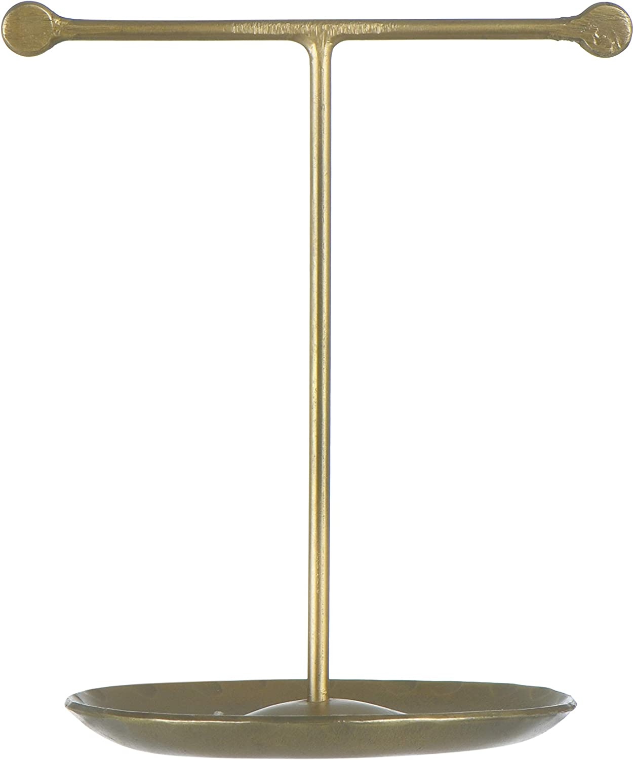 Creative Co-op Metal Antique Brass Finish Jewelry Stand, Bronze
