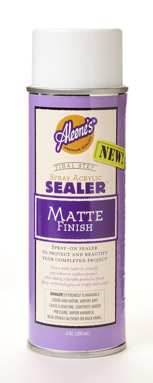 aleene 39 s spray acrylic sealer matte finish 6oz ebay. Black Bedroom Furniture Sets. Home Design Ideas