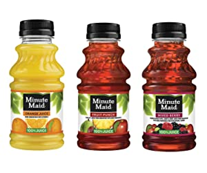 LUV BOX - Variety Minute Maid pack , 10oz Bottles , pack of 24 , Apple , Mixed Berry