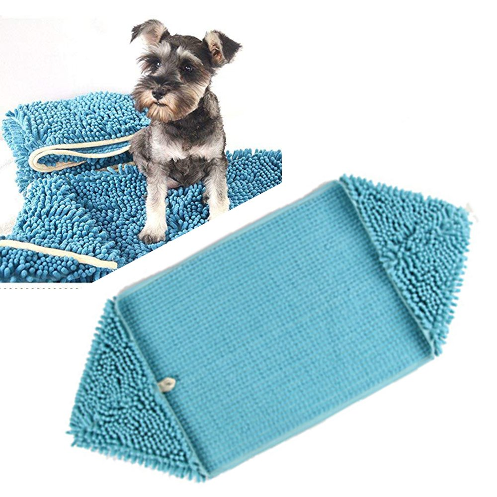 Hitti Fast Drying Pet Bath Towel,Ultra Absorbent Microfiber Chenille Towel With Strong Absorption