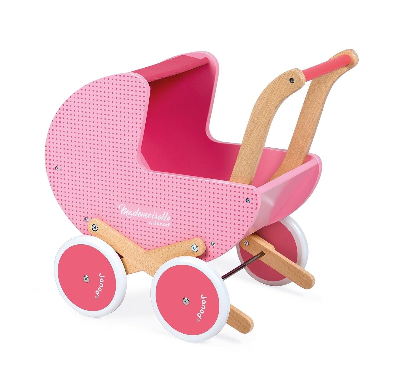 Janod - Framboisine Cochecito de madera para muñecas (J05891)