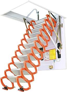Escalera telescópica del ático invisible Escaleras plegables en el techo Escalera loft de aleación casera desplegable tamaño personalizable 2M-4M (Alta 2.5M,Hole custom): Amazon.es: Bricolaje y herramientas