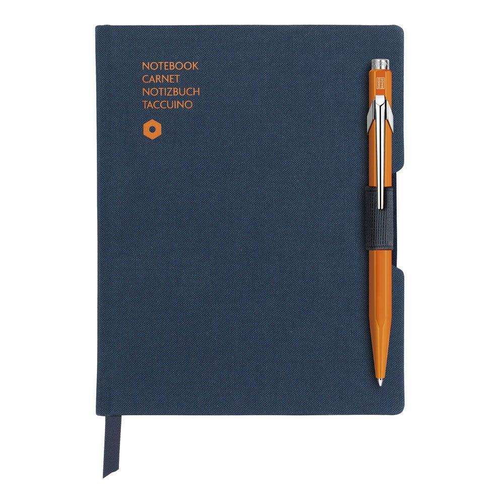 Caran d-ache 8491.454A6192sheets Blue Writing Notebook-Writing Notebooks