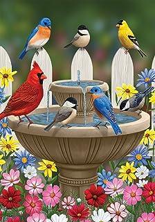 Briarwood Lane Hummingbird Greeting Spring Garden Flag Floral Birds 12.5 x 18